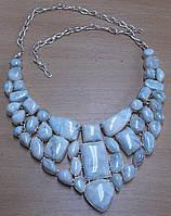 """Серебряное потрясающее ожерелье воротник  с натуральными ларимарами """"Эксклюзив"""""""