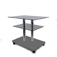 Стол журнальный стеклянный прямоугольный Commus Bravo Light P6 gray-gray-2chr50, фото 1