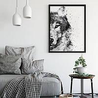 Плакат - Волк акварель (цифровая печать). Формат А3