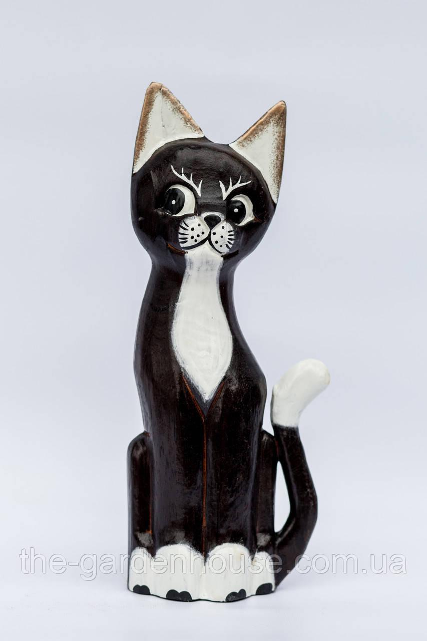 Кошка резная с белой грудкой, 30 см