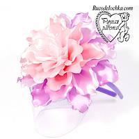 Квітка бузковий великий 14см на обідку, шпильки, гумки Будь-які кольори під замовлення ручна робота