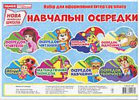 Навчальні осередки (8 шт 20х30 см) Картки для оформлення інтерьєру