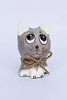 """Котик """"Одуванчик"""" (серый), 8 см, фото 1"""