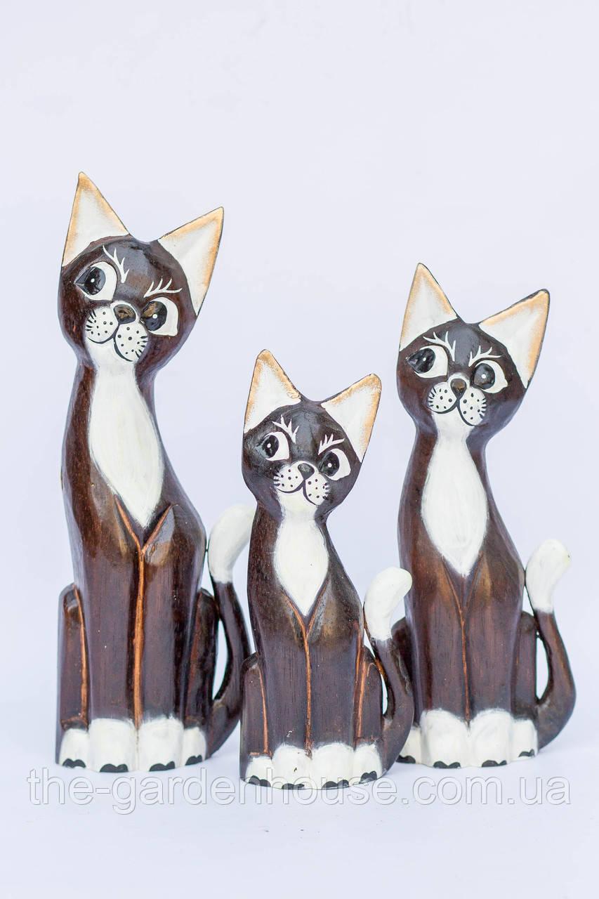 """Набор статуэток """"Кошка шоколадная с белой грудкой"""" (35, 30 и 25 см)"""