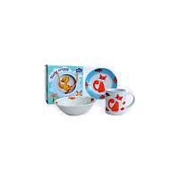 Детский набор столовой посуды 3 пр Tomas Fisherman Milika M0690-1
