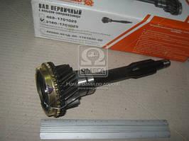 Вал первичный КПП УАЗ с кольцом синхронизатора. (диаметр 29 мм) (АДС), Ульяновск). 3160-1701025