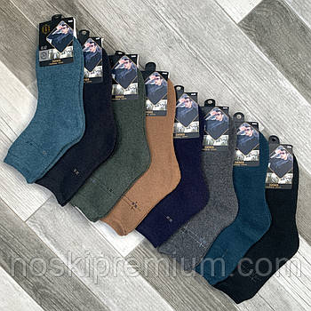Шкарпетки чоловічі термо махрові кашемір Q&S, розмір 41-47, асорті, 8001