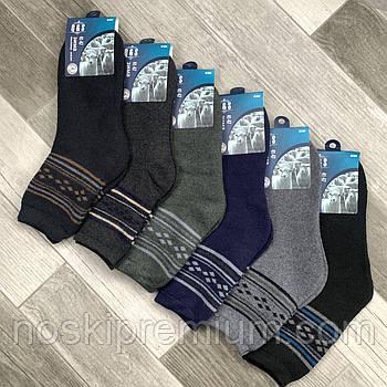 Шкарпетки чоловічі термо махрові кашемір Q&S, розмір 41-47, асорті, 8004