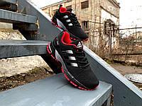 Кроссовки Adidas Marathon TR 26 Black/Red (37-41р.) черные с красным