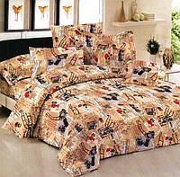 Набор постельного белья Сатин № с03 Двуспальний размер 175х215 см.