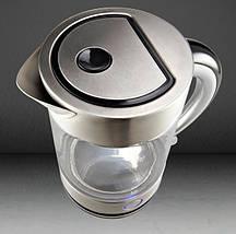 Електрочайник Gorenje K17G Silver 2200W, 1.7 л, чайник електричний скляний, електрочайник, фото 3