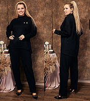 Женский повседневный теплый костюм из ангоры #31 (р.48-60) \ черный