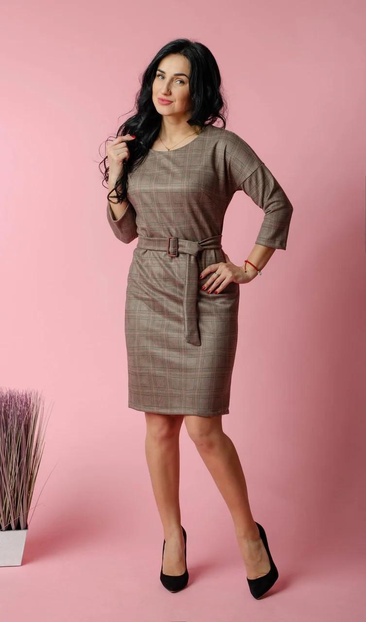 Стильне плаття замшеве