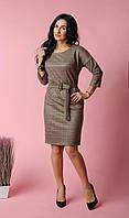 Стильное замшевое платье, фото 1