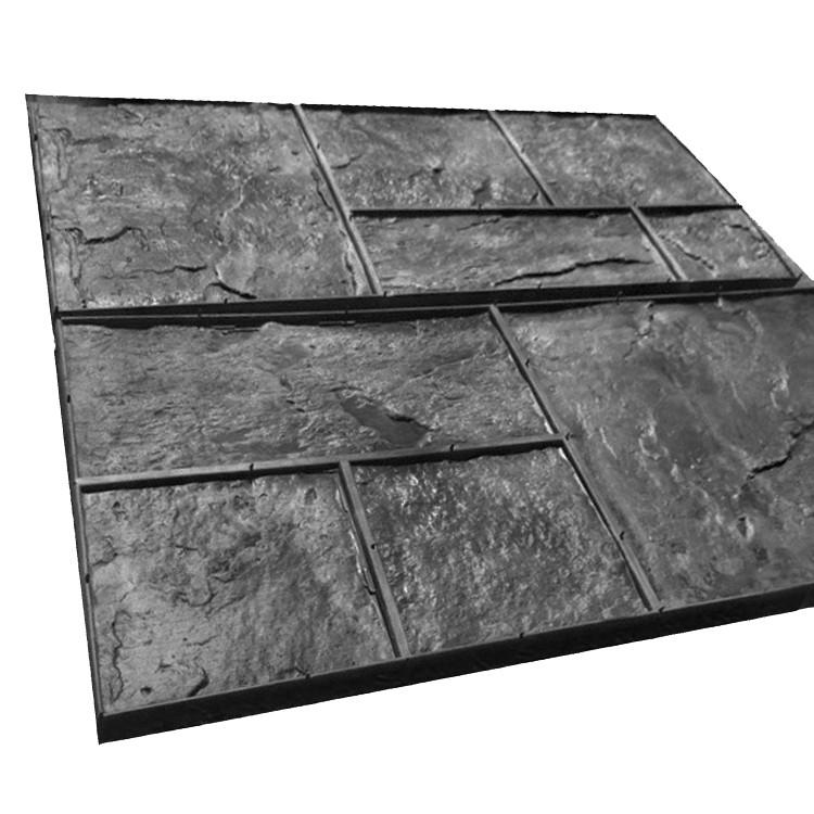Сланец - Комплект штампов из резины S = 0.5 м². Хаотичная кладка скального камня; ровная расшивка.