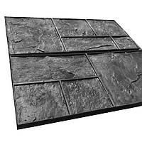 Сланец - Комплект штампов из резины S = 1 м². Хаотичная кладка скального камня; ровная расшивка.