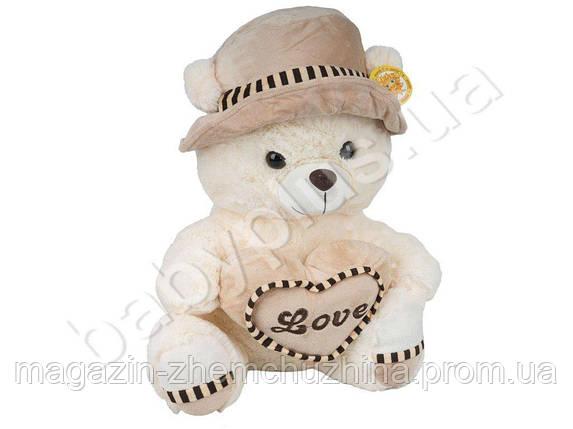 SALE! Мягкая игрушка. Медведь в шляпе с сердцем (говорит I love you), фото 2
