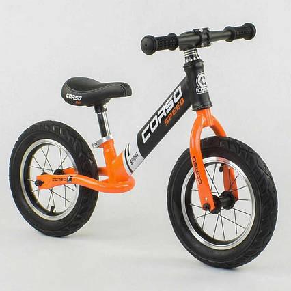 """Велобег """"CORSO"""" 24846 (1) стальная рама, колесо 12"""", надувные колёса"""