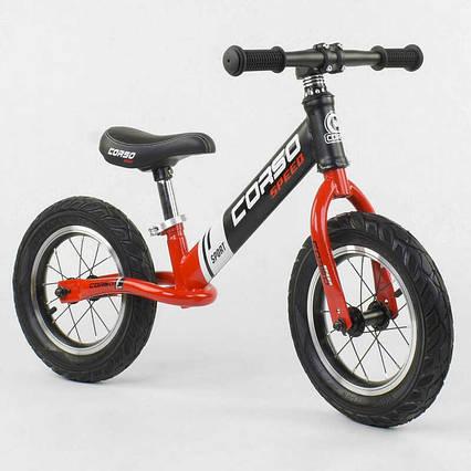 """Велобег """"CORSO"""" 83712 (1) стальная рама, колесо 12"""", надувные колёса"""