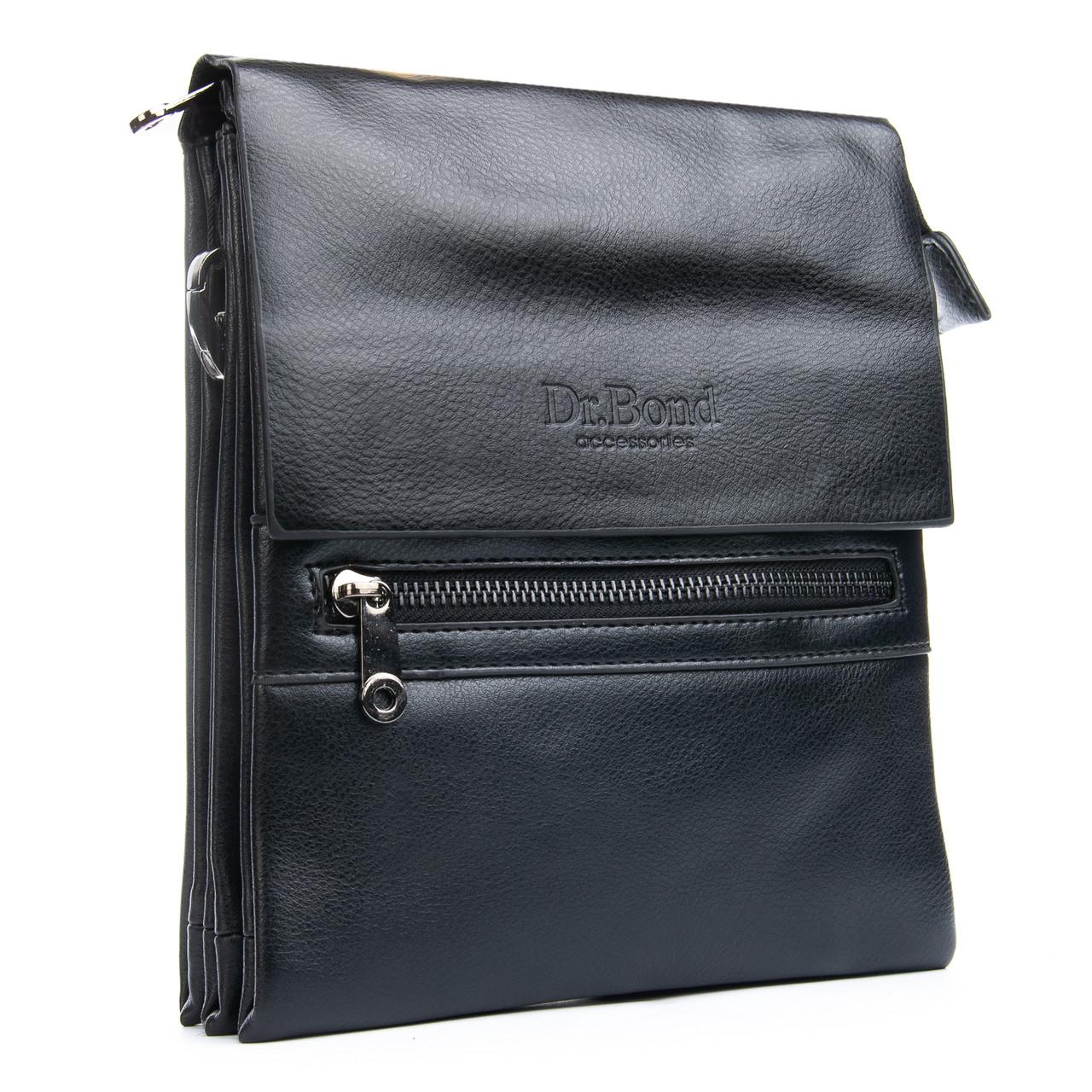 Мужская сумка Планшет Dr.Bond 19 x 23 x 5см Черный (db317-2)