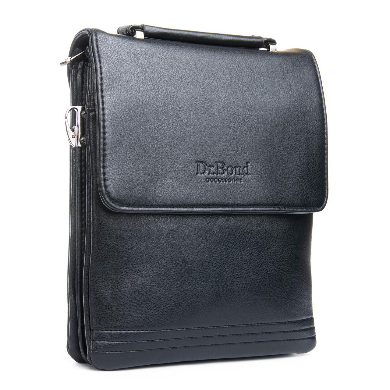 Чоловіча сумка Планшет Dr.Bond 21 x 25 x 5см Чорний (db319-3)
