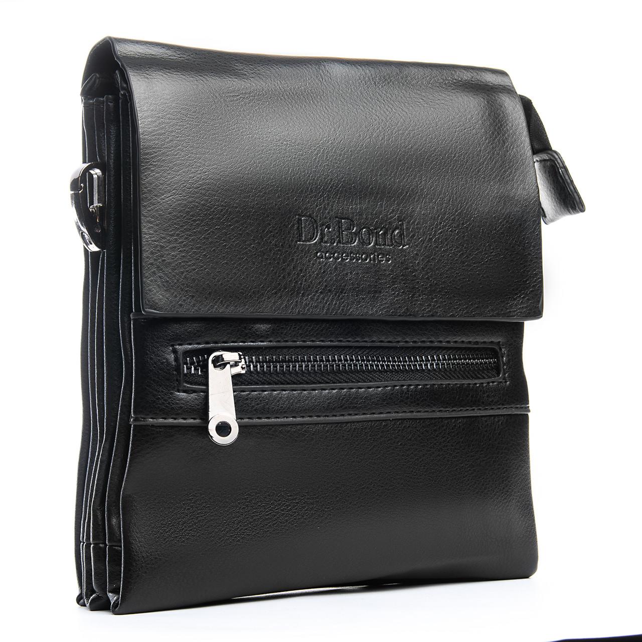 Мужская сумка Планшет Dr.Bond 17 x 20 x 5см Черный (db317-1)