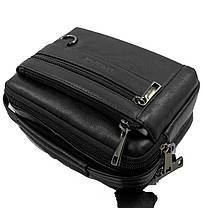 Кожаная мужская сумка Gorangd 19 x 14,5 x 8см Черный (g9393), фото 2