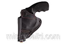 Кобура поясная Револьвер 2,5 формованная (кожа, чёрная)