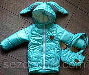 Куртки от производителя на девочек с капюшоном яркие