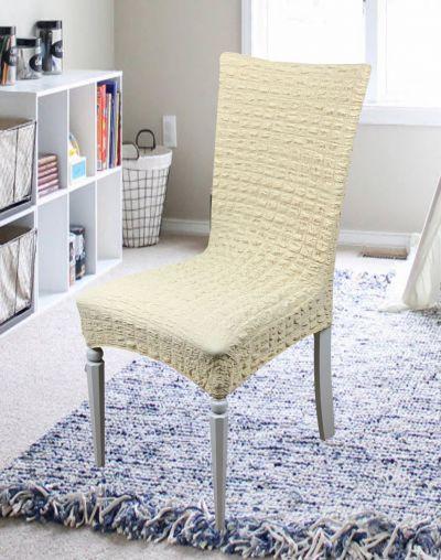Чехлы на кухонные стулья без юбки набор 6 шт. Golden Молочный 16