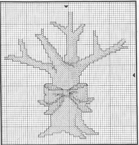 схема вышивки дерева