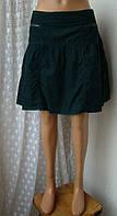 Юбка женская модная зеленая хлопок вельвет мини бренд Roxy р.48, фото 1