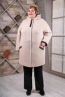 Весеннее женское пальто больших размеров Супербатал 68 70 72 74 76 78 размеры