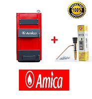 Твердотопливные Amica SOLID 23 кВт (Польша) Горение 8 часов + регулятор тяги в подарок
