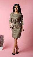 Офісне плаття у велику клітку, фото 1