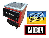 Горения котёл дровяной Carbon КСТО-18П - С плитой