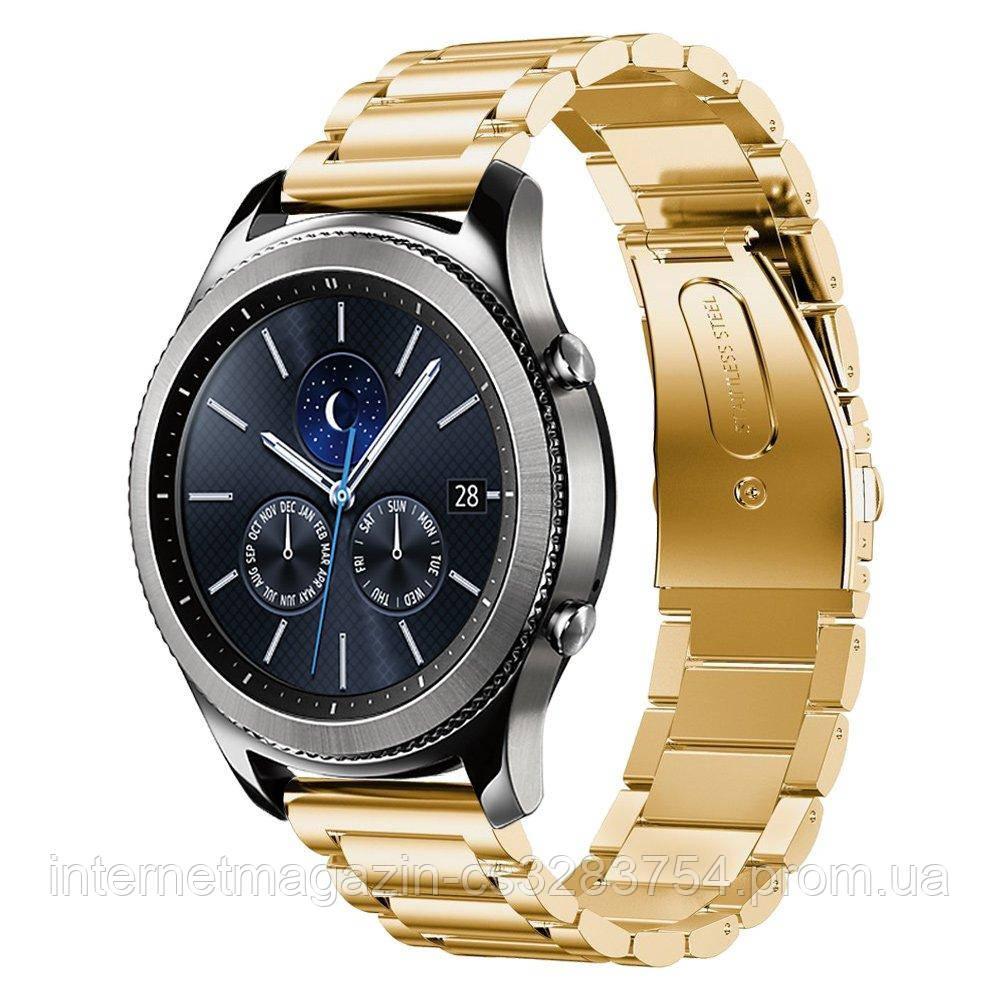 Ремінець BeWatch для Samsung Galaxy Watch 46mm Золотистий (1020428)