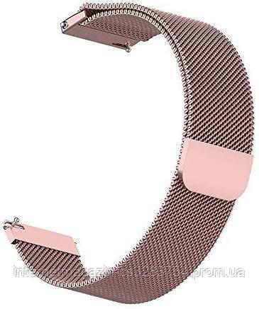Ремешок BeWatch Миланская петля шириной 20 мм для Xiaomi Amazfit BIP Pink (1010211)