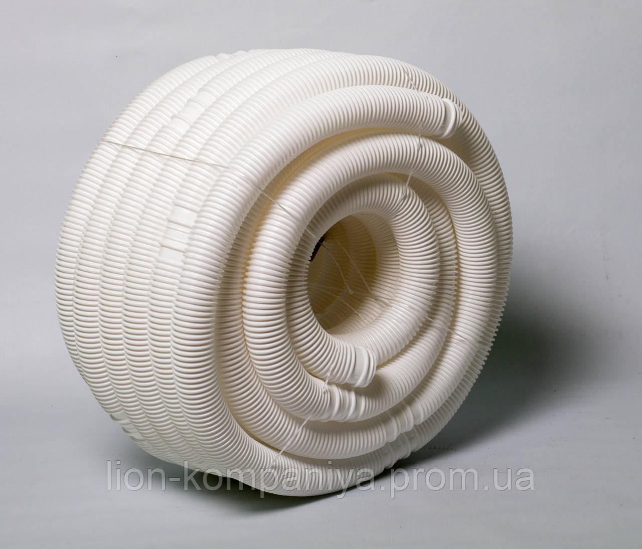 Гофра сифонная для систем канализации, 40мм белая (80см) - КОМПАНИЯ ЛИОН в Днепре