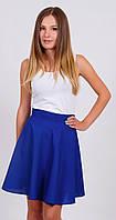 Женская юбка солнце-клеш синяя