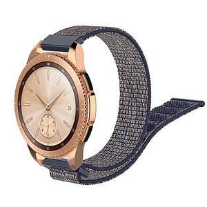 Ремешок BeWatch 20 мм нейлоновый липучка для Samsung Galaxy Watch 42 мм Navy (1011398)