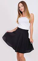 Женская юбка солнце-клеш черная