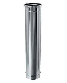 Труба дымоходная 1 м нерж. ø100 мм (толщина 0,6 мм)