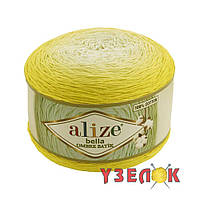 Alize Bella Ombre Batik 7414 желтый переход