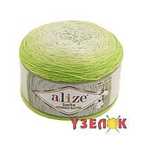 Alize Bella Ombre Batik 7412 салатный переход