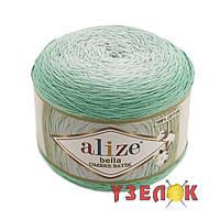 Alize Bella Ombre Batik 7408 мятный переход
