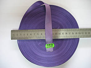 Лента атласная двухсторонняя 20мм, цвет сиреневый, Турция