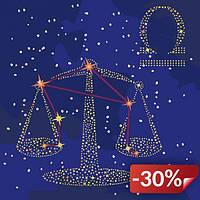 Картина по номерам Идейка Звездный знак Весы с краской металлик 50х50 см (KH9503)