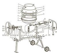 Запчасти для бетономешалки BETONIAR MB-125