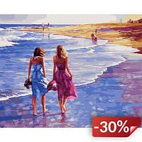 Картина Brushme по номерам Босиком по пляжу 40 x 50 cм (def.GX29485)
